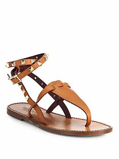 Valentino Rockstud Leather Thong Sandals I want these real bad!!!