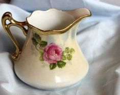 Vintage Dishes, Vintage China, Rose Cottage, Prussia, Rose Buds, Hand Painted, Painted Roses, Nostalgia, Porcelain
