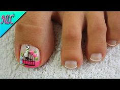YouTube Cute Pedicures, French Pedicure, Summer Toe Nails, Nail Art Videos, Toe Nail Designs, Hair Beauty, Lily, Tattoos, Youtube