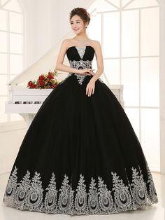 Resultado de imagen para vestidos de quinceañeras negros