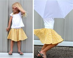 TUTORIAL: the Circle Skirt for little girls and ladies too... cute and looks easy to make, shall pin it first and try to get so super nice printed fabrics to do later
