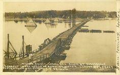 dardanelle arkansas river bridge   Pontoon Bridge across Arkansas River at Dardanelle