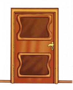 puerta Clip Art, Scrapbook, Doors, Frame, Copywriting, Home Decor, Window, House, Chocolate