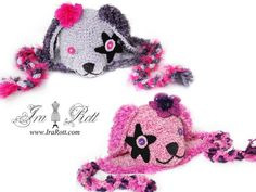 Handmade Crochet Super Star Puppy Dog Hat for all ages