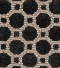 """Robert Allen @ Home Upholstery Fabric 54"""" - Velvet Geo Black"""