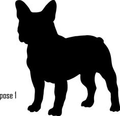 6 French Bulldog Vinyl Dog Silhouette Decal by InitialYou on Etsy, $5.95