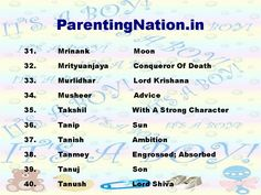 Kark Rashi Baby Boy Names With Meanings