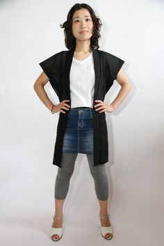 Authentic Vintage Japanese Black Filmy Sleeveless by CJSTonbo