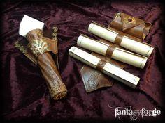 LARP EQUIP: Mage belt accessories I by ~FantasyForgeLARP on deviantART