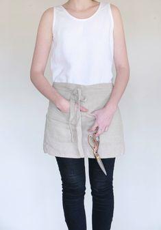 Betty Apron - Irish Linen in Flax Handmade in Ireland www. Slow Fashion, Ireland, Irish, Basic Tank Top, Apron, Fashion Outfits, Tank Tops, Handmade, Clothes
