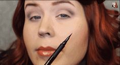 57 Life-Changing Makeup Tips Every Woman Should Know Place your pen at the outermost part of your nostril, then angle it upwards to meet the outer edge of your eye. Lower the tip of your liner where it lands and draw down toward your lash line.