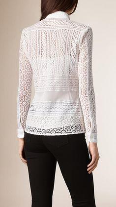 Branco Blusa de renda - Imagem 2