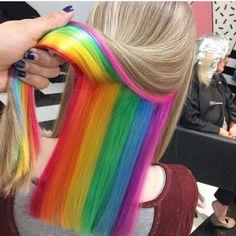 """7,294 Likes, 87 Comments - ғᴜᴄᴋɪɴɢ ʜᴀɪʀ ™  (@fuckinghair) on Instagram: """"Fucking Rainbow  #fckinghair By @spookyruno  So fun!!"""""""