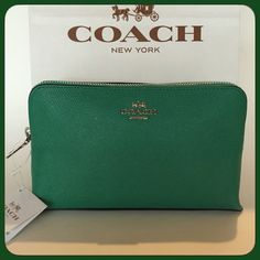 Jade Green Clutch/Mini Purse/Cosmetics Purse Jade Color Clutch/Mini Purse/Cosmetic Purse. BNWT. With a wide side pocket inside. Very roomy. Will fit smartphones, cosmetics etc. Please feel free to ask questions. Thank You! Coach Bags Mini Bags