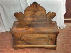 Restoration chest and hanger chestnut wood Chest hanger chestnut wood restoration Dario Raia