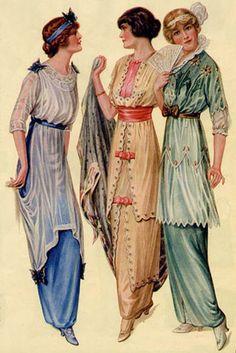1910 - 1919 Ragtime Era Dance Attire