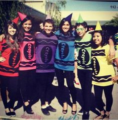 DIY Group Halloween Costume. Crayola crayons. (IG: iyaricorazon19)