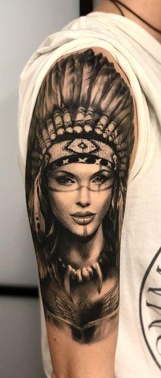 Tatuagens Femininas → 467 fotos para se inspirar (2018) Cool Arm Tattoos, Sleeve Tattoos, Tattoo Sleeve Designs, Pretty Tattoos, Leg Tattoos, Beautiful Tattoos, Body Art Tattoos, Indian Women Tattoo, Indian Tattoo Design