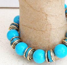 12mm Turquoise Bracelet Earrings by lindasnest on Etsy, $40.00
