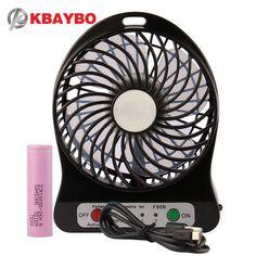 USB Mini Fan Portable Electric Fans LED Portable Rechargeable Desktop Fan Cooling air conditioner portable fan has a battery #hats, #watches, #belts, #fashion, #style