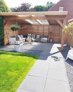 Small Yard Landscaping, Backyard Garden Landscape, Backyard Patio Designs, Small Backyard Landscaping, Small Patio, Landscaping Ideas, Balcony Garden, Landscape Edging, House Landscape