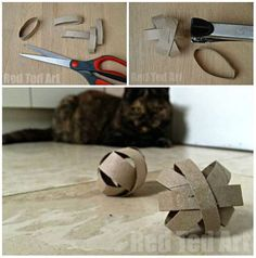 diy l irr sistible balle pour chat creative cat pinterest chat jouet pour chat et animaux. Black Bedroom Furniture Sets. Home Design Ideas