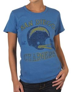 Women s NFL San Diego Chargers T-Shirt by Junk Food a32e8ffc4