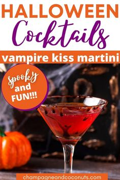 The Vampire's Kiss Martini tastes great, after all, it's made with raspberry flavored Chambord, gin, and chocolate syrup. It's perfectly spooky and fun to serve for Halloween too!