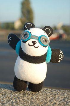 handmade panda bear plush