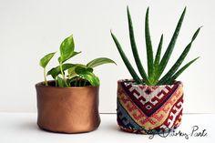 Inspiration - 13 frische DIY-Töpfe für deine Pflanzen und Sukkulenten - Green Bird