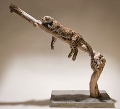 nick mackman sculpture | Leopard Low fired ceramic Ht. 60 cm.