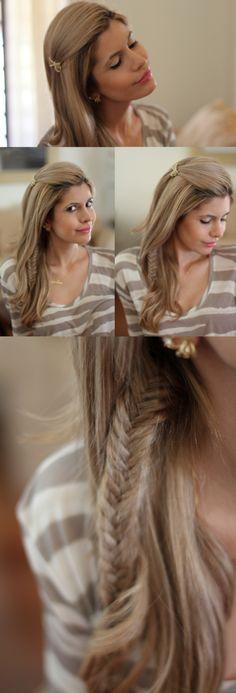 Penteado – Solto de lado com trança - Carol Tognon | moda it
