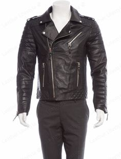 Real Leather Genuine Lambskin Men Jacket Motorcycle Slim Fit Stylish Biker BS04…