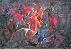 Kanha Sikounnavong - artist painter from Laos Lao PDR