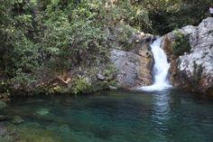 Arrival in Santa Barbara waterfall