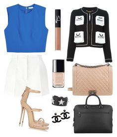 """Hardworking"" by merversoz on Polyvore featuring moda, Alice + Olivia, Dolce&Gabbana, Giuseppe Zanotti, Chanel, Michael Kors, Moschino, Givenchy ve NARS Cosmetics"