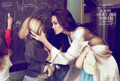 Angelina Jolie with her children Knox, Shiloh and Vivienne photographed by Mert and Marcus for Vanity Fair, October 2011 Brad Pitt And Angelina Jolie, Jolie Pitt, Angelina Joulie, Vanity Fair, Alas Marcus Piggott, Mother Knows Best, Thing 1, Shiloh, Actors