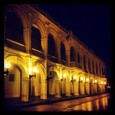 Night lights in Cartagena, Colombia