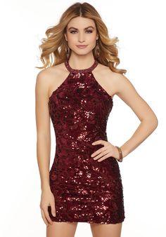 Mori Lee 33079 Sequin Velvet Halter Dress Sequin Evening Dresses, Sequin Cocktail Dress, Hoco Dresses, Sequin Dress, Sexy Dresses, Dresses For Sale, Fashion Dresses, Lace Dress Styles, Formal Wear Women