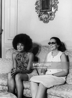 Angela Davis And Vilma Espin In Cuba In 1972
