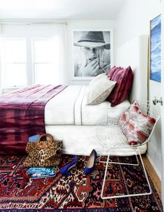 Design inspiration from We're psyched to spot our Tango Linen and Space X Sheer in Michelle Adam's guest room! Contemporary Fabric, Safe Haven, Dream Bedroom, Bedroom Decor, Bedroom Ideas, Guest Room, Fabric Design, Design Inspiration, Fashion Inspiration