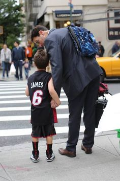 """I asked his favorite thing about his son, and he replied: """"That he's very loving."""" Hearing this, the boy asked: """"What about basketball?"""" The dad answered: """"I like that you're good at basketball. But my favorite thing is that you're very loving."""" -Humans of New York"""