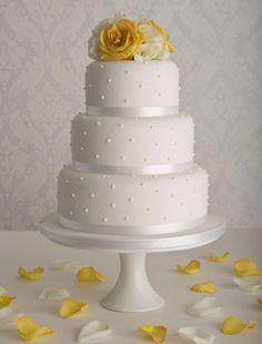 Pearl Wedding Cake Simple Design 2015 - Simple Wedding Cake, wedding cake ideas, wedding cake pictures