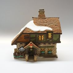Old East Rectory, Dickens Village Series Hand Painted Porcelain. Made Exclusively for Department Painted Porcelain, Hand Painted, Dickens Village, Important People, Department 56, Glasgow, Pencil Drawings, Art Deco, Ornaments