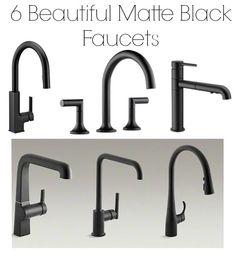 matte black faucets