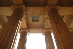Berlin Neue Wache 1818, dorischer Säulenportikus von Innen - Schinkel