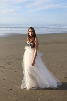 Eco friendly wedding dress with color and tulle, linen, ribbons, alternative dress, small to medium