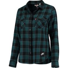 Women's Levi's Midnight Green Philadelphia Eagles Barstow Western Button-Up Long Sleeve Shirt
