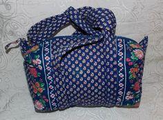 Vera Bradley in Royal Blue Retired Rare Classic Hand Bag XS Duffel Gym Bag   #VeraBradley #ShoulderBag