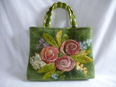 Custom order, wet felted handbag/purse